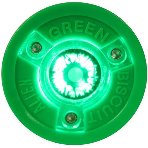Puk na trénink stickhandlingu a přihrávek - Green Biscuit ALIEN