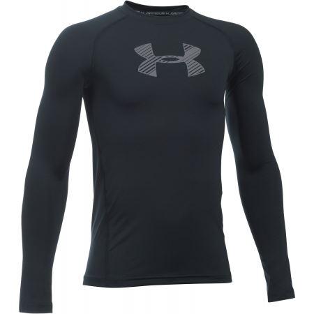 Detské tričko Under Armour ARMOUR Dlhý rukáv Čierne YXS - XS