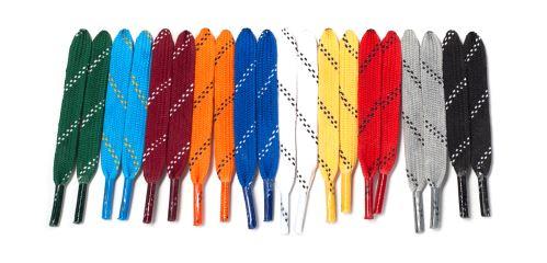 Tkaničky do hokejových bruslí voskované, délka 274 cm