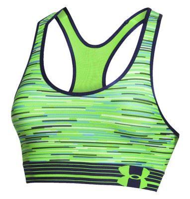 Športová podprsenka Under Armour HeatGear Alpha Printed Signálna zelená XS