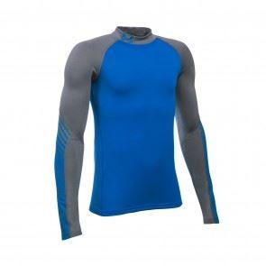 Detské tričko Under Armour ARMOUR Up ColdGear Mock Modro / sivé XS