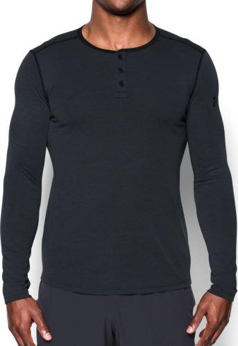 Pánske tričko Under Armour Threadborne Fitted Knit Henley 001 M