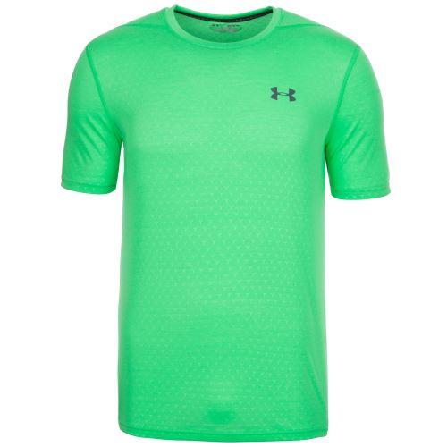 Pánske tričko Under Armour Threadborne Fitted Emobssed Zelené L