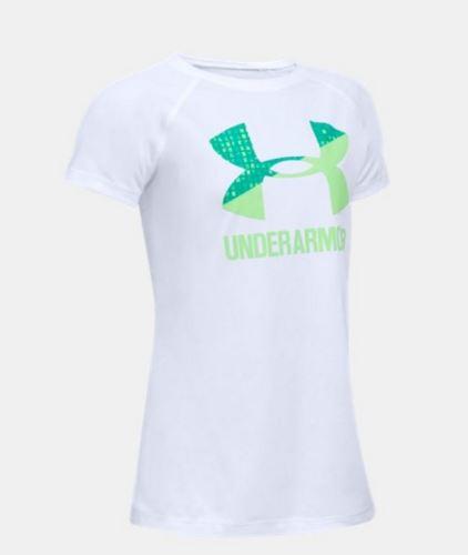 Dětské tričko Under Armour Solid Big Logo Bílé YXS - XS