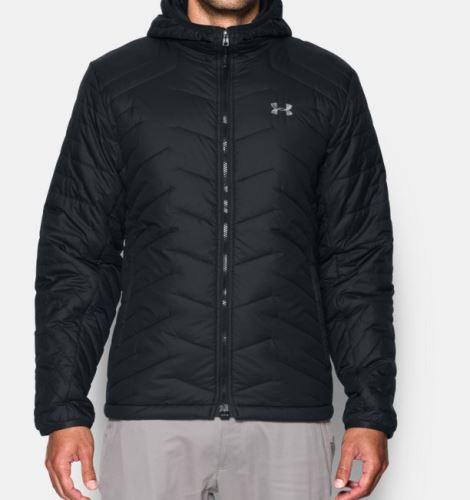 Pánska zimná bunda Under Armour Feature Hooded Čierna S