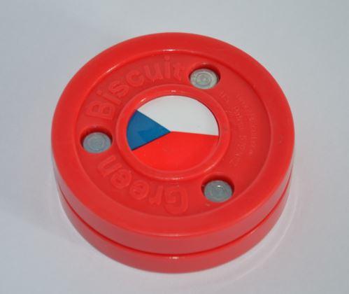 Puk na tréning stickhandling a prihrávok - Green Biscuit CZECH limitovaná edícia