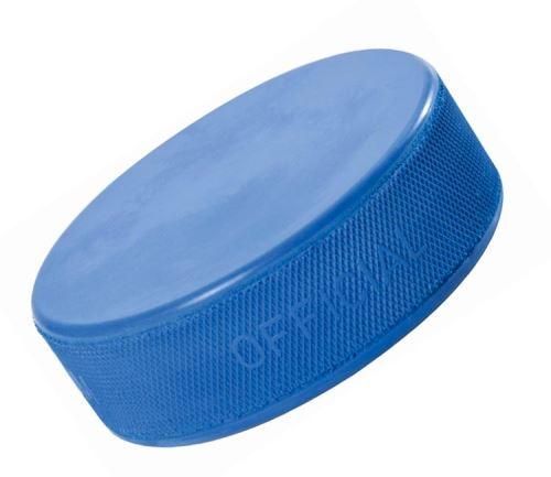 Hokejový puk Junior odľahčený (modrý)