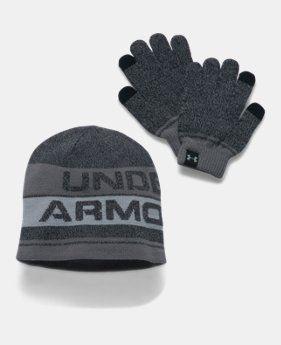 Dětský set Under Armour Combo - čepice + rukavice 001