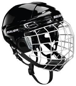 Seniorská hokejová helma BAUER 2100 Combo červená